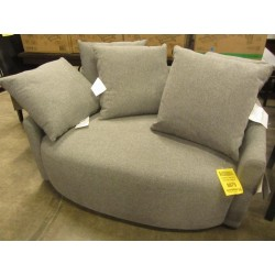 Fabric Swivel Round Chair