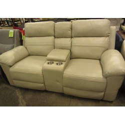 Leather Reclining Sofa With...